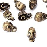 weddecor 9mm gunmetal Skull Head Punk Metall Nieten -, Zubehör für Leder Gürtel, Taschen, DIY Arbeit, Schuh, Designer Kleidung (100Stück), metall, bronze, 9 mm