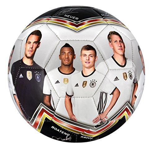 DFB Fussball Fotoball, weiß/schwarz/rot/gold, 5, 60022-2016