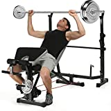 Best Olympic Weight Benches - Olympic Weight Bench Adjustable Incline Flat Workout Multi-Function Review