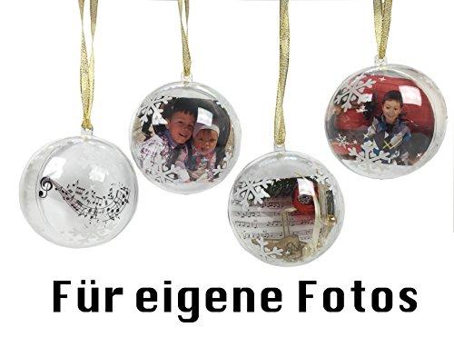 4er Set Weihnachtskugel zum selber gestalten (z.B. als Fotokugel)