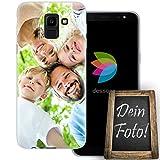dessana Eigenes Foto transparente Schutzhülle Handy Tasche Case für Samsung Galaxy J6 (2018)