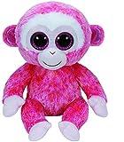 TY 37010 - Ruby Buddy - Affe mit rosa glitzernde Ohrmuscheln und Glitzeraugen, Glubschi's, Beanie Boo's, Large 24 cm, rot/weiß