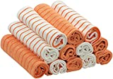 RESPEKT Mikrofaser - Tücher PLUS, 12tlg - Set in veschiedenen Farben ::: Das Original aus dem TV!!! … (orange)