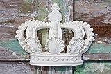 Aufhängbare Prinzessinnen-/Prinzenkrone, Wanddekor, Bettkrone, Möbelappliken, Shabby-Chic-Verzierungen von Chic Mouldings Unfinished White