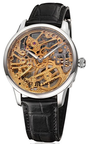 Masterpiece Squelette Tradition Skelett Herrenuhr Stahl-Gold bicolor Krokoleder schwarz