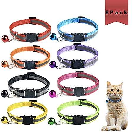 Sunshine smile katzenhalsband mit sicherheitsverschluss,Schnellverschluss Katzenhalsband,Reflektierendes Katzenhalsband…