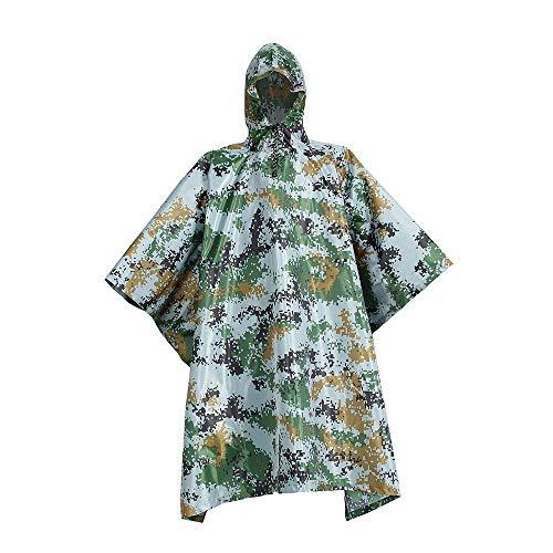 YONGYONG Poncho Antipluie Camouflage À Capuchon Imperméable Lâche Poncho Auvent De Sol Multi-Fonction Adapté Aux Activités De Plein Air