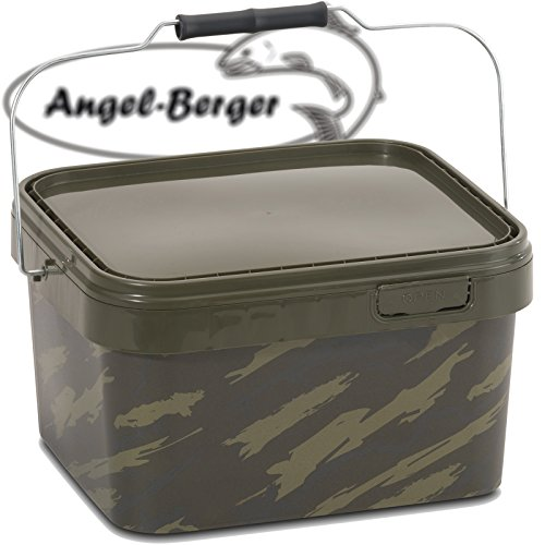 Angel Berger Bucket Angeleimer Boilie Eimer Futtereimer (5l Eckig) (Eimer Angeln)