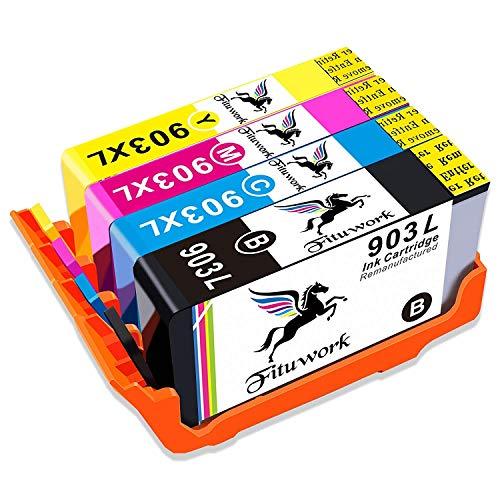 Yield Toner Cartridge Combo - Fituwork 1Set Remanufactured Tintenpatronen passend für