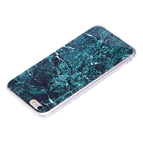 iPhone 6S Plus Hülle,iPhone 6 Plus Hülle,iPhone 6S Plus/6 Plus Silikon Hülle Tasche Handyhülle,SainCat Flamingos Flamingos Muster Ultra dünne Silikon Hülle Schutzhülle Durchsichtig Hadytasche Stoßfest Dunkel Marmor