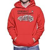Haynes Workshop Manual 0528 Citroen CX Black Men's Hooded Sweatshirt