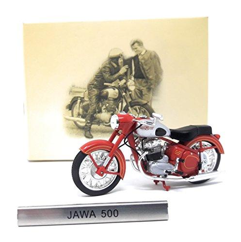 Atlas Modellmotorrad Tchechien CZ 1:24 Motorrad Jawa 500 rot silber