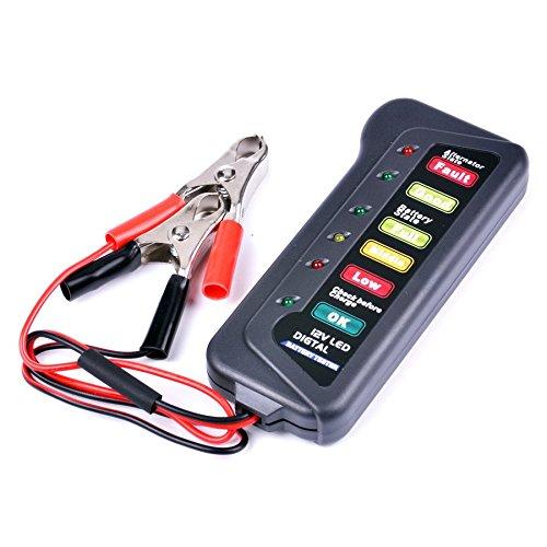 RL-Luci-LED-BI007-Batteria-6-tester-per-batterie-12-V-per-auto-moto-ATV-motorino-per-carrelli-da-golf-veicolo-van-batteria
