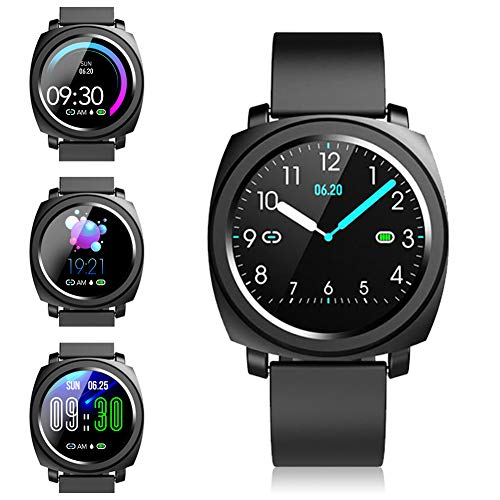 Smartwatch - Fitness Armbanduhren Fitness Uhr Wasserdicht Fitness Tracker Sportuhr mit Pulsuhren Schrittzähler Stoppuhr Smart Uhr für Damen Herren Smart Watch für Android iOS