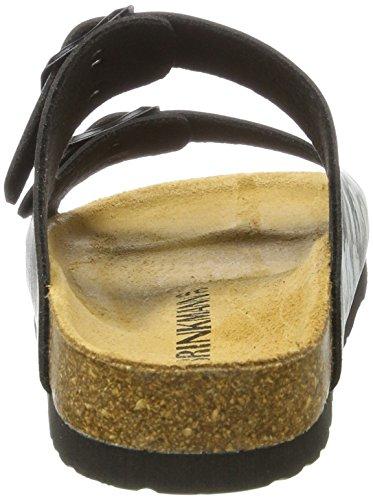 Dr. Brinkmann Ladies 701072 Mules Black (nero / Bianco)
