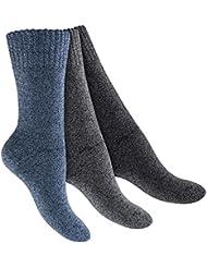 6 Paar Herren Thermo Vollfrottee Socken mit Komfort-Softbund - Handgekettelte Spitze! - Top Qualität von celodoro