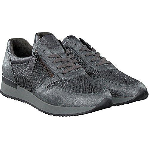 Gabor  Gabor Damen Sneaker, Chaussures de ville à lacets pour femme Carbone