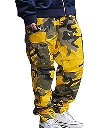 Camo Cargo Pantalones para hombre para mujer Baggy Tactical hibote Hip Hop Streetwear Pants
