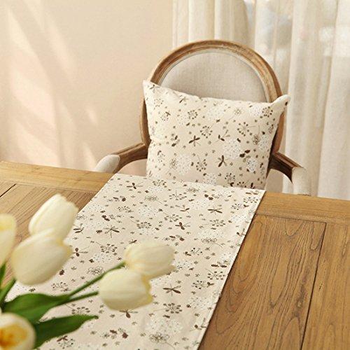 Ethomes Klassische Leinen & Cotton Printed Natürliche Tischläufer -