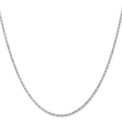 91eebb3c7b1 ICE CARATS 10k White Gold 2mm Machine Made Link Rope Necklace Chain Fine  Jewelry Gift Set For Women Heart  ICE CARATS  Amazon.co.uk  Jewellery