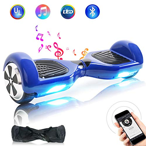 "BEBK Hoverboard, 6.5"" Self Balance Scooter mit 2 * 350W Motor, LED Lights Elektro Scooter (N1-Blue)"