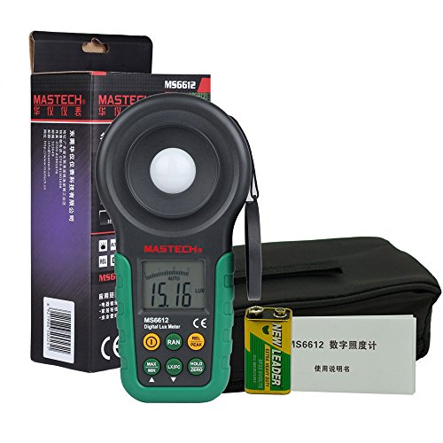 Preisvergleich Produktbild Olymstore MASTECH MS6612 Professionelle Digital Luxmeter Lichtmesser Beleuchtungsmessgert Helligkeitsmesser Messgerät 0¡«200000Lux/0¡«20000FC