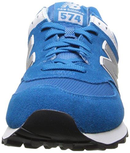 New Balance ML574 D, Baskets mode homme Blue/SILVER