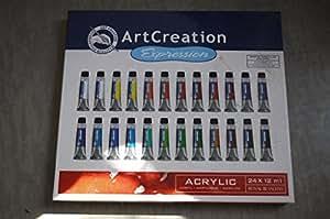 Royal Talens 9021724M de couleur acrylique Art Creation, 12ml, Lot de 24
