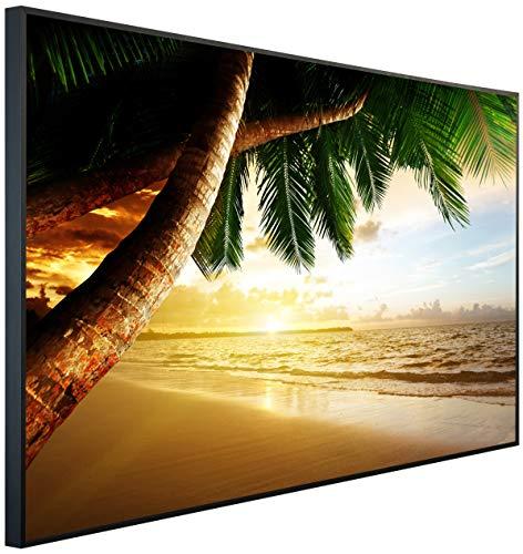 InfrarotPro | Infrarotheizung 900 Watt | Bildheizung 120x75x3 cm | Made in Germany | Geprüfte Technik | Ultra-HD Auflösung | (Palme bei Sonnenuntergang) - Palmen Vans