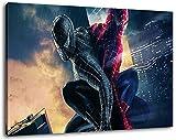 Spiderman Format 120x80 cm Bild auf Leinwand, XXL riesige Bilder fertig gerahmt mit Keilrahmen, Kunstdruck auf Wandbild mit Rahmen