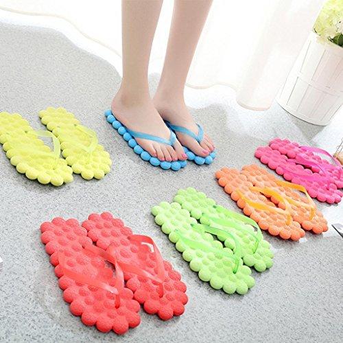 Unisex Flip-Flop Donna Tanga Comfort Sandalo Yoga Mat Flip-Flop Sandy Sandalo -Moda serie fresco Red