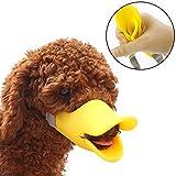 HongYH Entenschnabel-Mundschutz für Hund, Mundschutz, Bissschutz / Maulkorb, bissfest, für kleine Hunde, Gelb