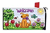 Hund Welcome Spring magnetisch Mailbox Cover Floral Puppy