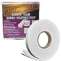 Stormguard 05SR6843053W 3.05m Rubber Foam Jumbo Draught Excluder Weather Strip Seal - White