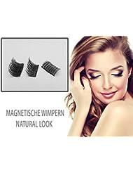 Cils secrets magnétiques, ultra minces, réutilisables (cils magnétiques écarlates) Look élégant et élégant (Édition...