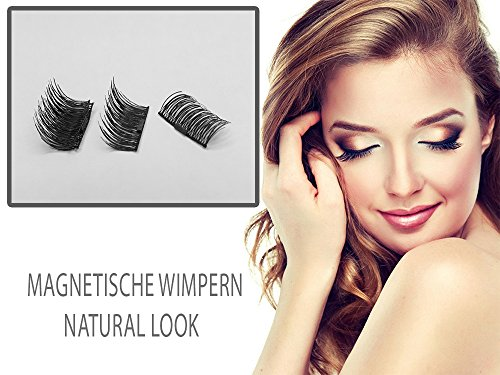 Magnetische Secret Wimpern, Ultradünn, Wiederverwendbar (Scarlet Magnetic Eyelashes) Eleganter & Stilvoller Look (Flirty Edition)