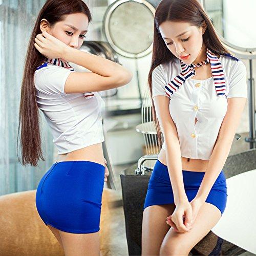 Roleeplay sexy Dessous, Nachtclubs, Rollenspiele, Stewardess Uniform, Sexy Bänder, Damentaschen, Hip Röcke, Leidenschaft, ()