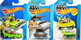 Hot Wheels Tooned Flintstone, Jetsons & Homer Simpson Cars by Mattel