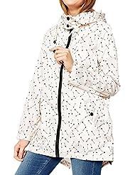 Manga larga de la mujer cremallera completa Pritned Hoodie chaqueta abrigo