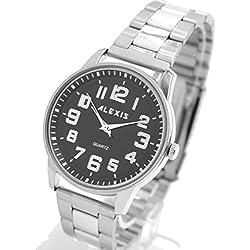 Matt Silver Band-runde PNP glänzende silberne Uhrgehäuse-Mann-Frauen-Mode-Uhr