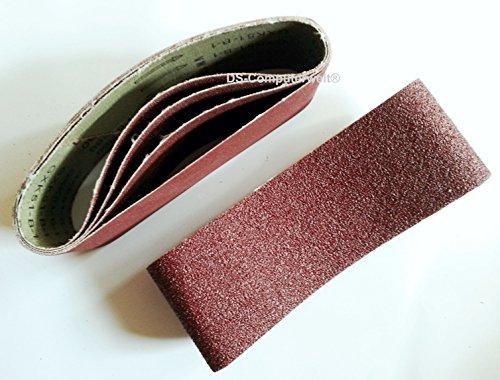 10 x nastri abrasivi in tessuto, grana 180, per levigatrice a nastro, dimensioni 75 x 533