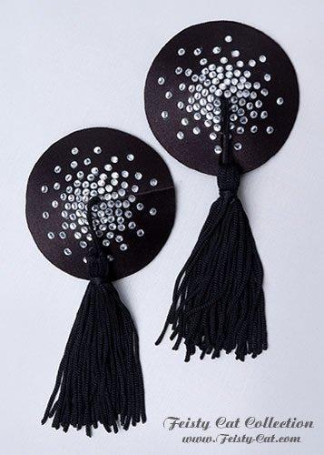 edle-strass-besetzte-pasties-mit-tassels-glam-o-rama-schwarz-clear