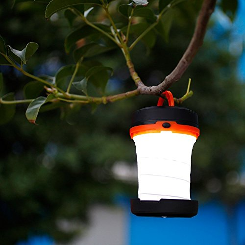 LE Laterne Zusammenklappbare led Taschenlampe mini LED Notfallleuchte 3 Helligkeiten Aussenleuchte für Camping Outdoor Wandern Angeln Abenteuer Campinglampe Ausfälle (1 er) - 7