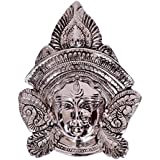 [Sponsored]Collectible India Durga MATA Wall Hanging Decor Metal Silver Color Goddess Durga Face Wall Hanging Sculpture Hindu Religious Maa Kali Mask Home Office Decor Gifts