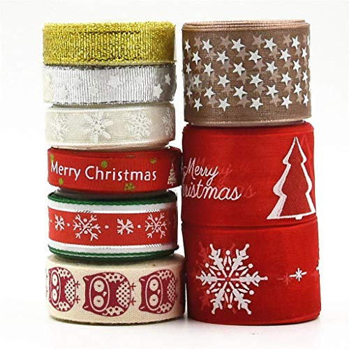 Byou Cinta Navidad,Cintas Grosgrain 9 Piezas