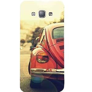 Casotec Vintage Car Pattern Print Design Hard Back Case Cover for Samsung Galaxy A8
