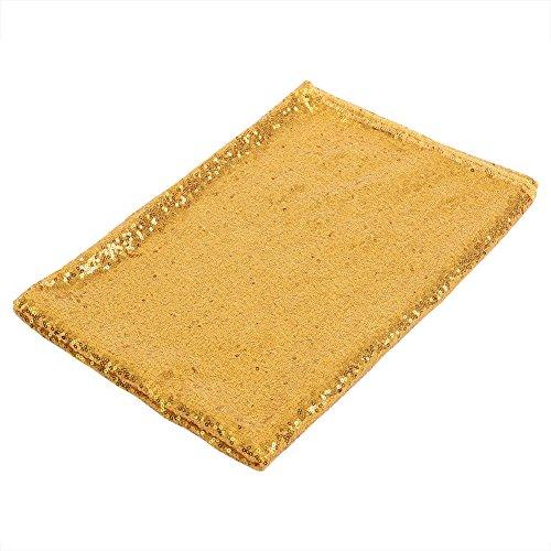 100x150 cm Pailletten Tischdecke Sparkly Rechteck Tischabdeckung Shiny Party Hochzeit Tischdecke Urlaub Bankett Dekorative Tischläufer(Gold)