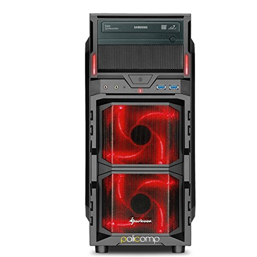 For Sale PALICOMP Gaming PC INTEL Skylake i7 6700K 4.0Ghz Turbo 4.2Ghz Quad Core – 16GB 2133Mhz Crucial Ballistix Sport – 240GB SSD – 2TB Sata3 HDD – NVIDIA GTX1060 3GB – 4K 1080p Gaming System – No OS – Sharkoon VG5-W Red Case Review