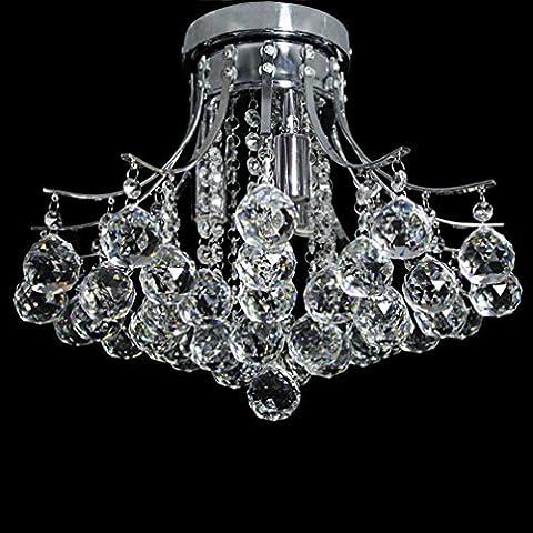 Dst Moderne Kristall & Chrome 3 Licht Deckenleuchte Kronleuchter Lampe für Esszimmer Wohnzimmer Schlafzimmer Arbeitszimmer D40cm H32cm