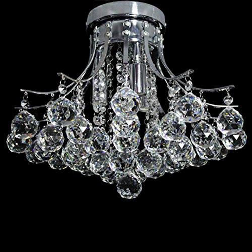 Dst Modern Crystal Chandelier Ceiling Light Mini Style Flush Mount Chrome Finish Fixture For Living Room Bedroom Dining